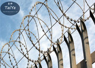High Security Concertina Razor Barbed Wire Wire Easily Installed In Lawn