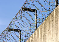 Blade Galvanized Barbed Wire Concertina Mesh Lashings In Coastal Areas
