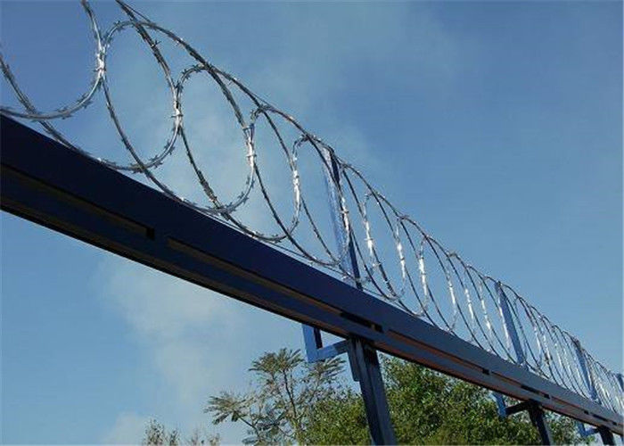 High Security Flatwrap Razor Barbed Wire Roll For Flat Razor Wire Panel